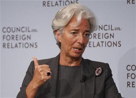 International Monetary Fund (IMF) Managing Director Christine Lagarde speaks at the Council on Foreign Relations forum in New York July 26, 2011. REUTERS/Shannon Stapleton