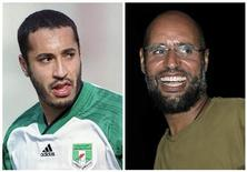 Combination picture of Muammar Gaddafi's sons Saadi (L) and Saif al-Islam.    REUTERS/Staff/Files