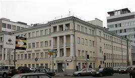 Здание офиса компании Вымпелком в Москве, 11 ноября 2005 года. Чистая прибыль телекоммуникационного оператора Вымпелком Лтд снизилась во втором квартале 2011 года до $239 миллионов с пересмотренных $335 миллионов, сообщила компания.  REUTERS/Viktor Korotayev