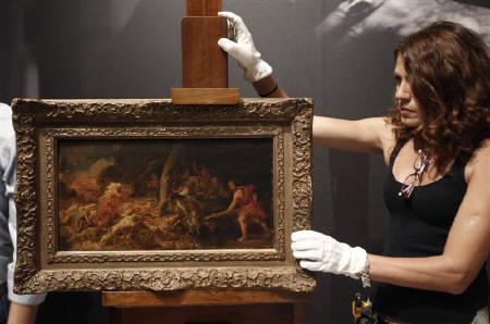 9月8日、01年にベルギーの美術館から盗まれ、1日にギリシャ当局に回収されたバロック時代を代表する画家ルーベンスの絵画「カリュドニアの猪狩り」が、アテネのナショナル・ギャラリーで公開された(2011年 ロイター/John Kolesidis)