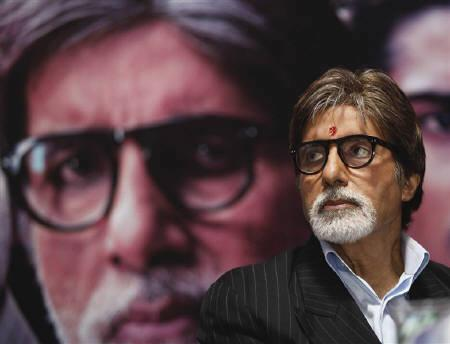 Bollywood actor Amitabh Bachchan attends a news conference to promote his forthcoming movie ''Aarakshan'' (reservation) in Kolkata July 27, 2011. REUTERS/Rupak De Chowdhuri/Files