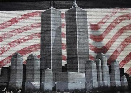 A mural honoring victims of the September 11th attacks on the World Trade Center in the Queens borough of New York August 1, 2011. REUTERS/Shannon Stapleton