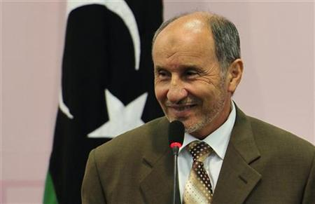 Mustafa Abdel Jalil, chairman of the Libyan National Transitional Council (NTC), attends a news conference in Benghazi August 30, 2011. REUTERS/Esam Al-Fetori