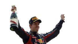 O atual campeão da Fórmula 1, Sebastian Vettel, da Red Bull, conquistou o Grande Prêmio da Itália neste domingo.   REUTERS/Stefano Rellandini