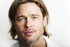 """Brad Pitt, do filme """"Moneyball"""", no Festival de Cinema de Toronto. Uma matéria publicada no site da revista Parade na quinta-feira em que Brad Pitt fala sobre sua vida com a ex-mulher Jennifer Aniston obrigou o ator a tentar consertar o prejuízo, dizendo que suas palavras foram mal-entendidas. 09/09/2011     REUTERS/Mark Blinch"""