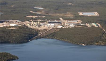 An aerial view of Cameco's Cigar Lake uranium mine site in northern Saskatchewan September 3, 2010. REUTERS/David Stobbe