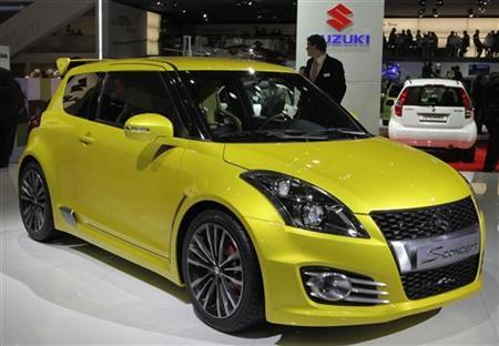 The new Suzuki Swift S-Concept car is displayed during the first media day of the 81st Geneva International Motor Show at the Palexpo in Geneva March 1, 2011. REUTERS/Denis Balibouse