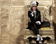 """A cantora Lady Gaga durante coletiva de imprensa em Taipei. Gaga lidera a lista de indicados ao MTV Europe Music Awards (EMA) de 2011, concorrendo em seis categorias, incluindo melhor música para """"Born This Way"""", melhor artista pop, melhor artista ao vivo e melhor artista feminina. 04/07/2011 REUTERS/Nicky Loh"""