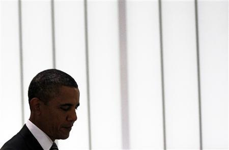 President Barack Obama walks to a high-level meeting on Libya at the United Nations in New York September 20, 2011. REUTERS/Shannon Stapleton