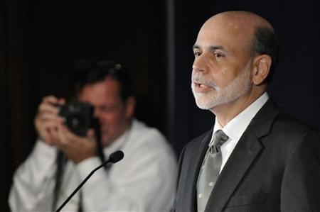 Federal Reserve Chairman Ben Bernanke is photographed as he makes remarks at the start of a conference on systemic risk, at the Federal Reserve in Washington September 15, 2011. REUTERS/Jonathan Ernst