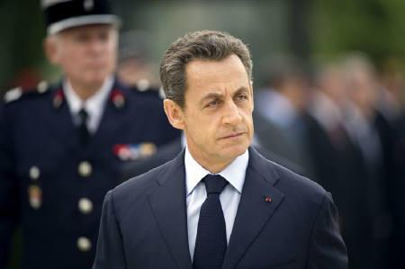 France's President Nicolas Sarkozy attends the 118th Firefighters National Congress in Nantes, western France, September 24, 2011.    REUTERS/Lionel Bonaventure/Pool