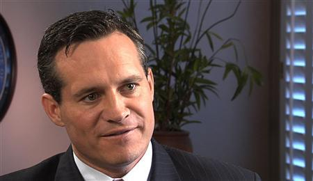 Nevada Secretary of State Ross Miller speaks with a Reuters reporter during an interview at his office in Reno, Nevada, in this screen grab from video recorded on August 12, 2011. Nevada has spawned a thriving industry of consultants who aid companies seeking to avoid liability and disclosure, at a time when Washington is calling on other nations to enforce greater transparency of financial flows. Ten years ago, Nevada enacted some of America's loosest disclosure and liability laws for corporations, in a bid to spur the state economy. Today, the business of registering companies in Nevada, many of them shells, is booming. REUTERS/Reuters TV