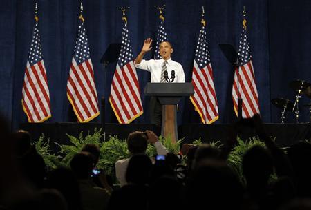 President Barack Obama speaks at a Democratic party fundraiser in Seattle, Washington, September 25, 2011. REUTERS/Jason Reed
