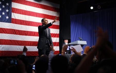 President Obama participates in an election campaign rally at the House of Blues in Los Angeles, September 26, 2011. REUTERS/Jason Reed