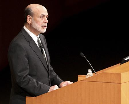 Ben Bernanke, Federal Reserve Bank Chairman, speaks at the Cleveland Clinic ''Ideas for Tomorrow'' series in Cleveland, Ohio September 28, 2011. REUTERS/Aaron Josefczyk