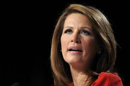 Republican U.S. presidential candidate Representative Michele Bachmann (R-MN) makes remarks during the Family Research Council's Values Voters Summit in Washington, October 7, 2011. REUTERS/Jonathan Ernst