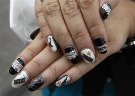 Michael jackson nail art images pop icon michael jackson prinsesfo Gallery