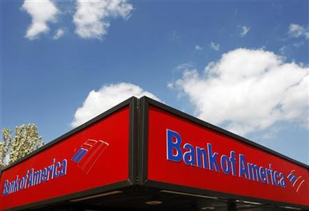 A Bank of America ATM location is seen in Somerville, Massachusetts May 5, 2008.    REUTERS/Brian Snyder