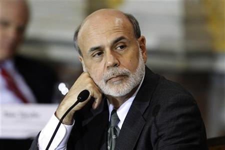 Federal Reserve Chairman Ben Bernanke listens during an open meeting of the Financial Stability Oversight Council at the Treasury Department in Washington, October 11, 2011.   REUTERS/Hyungwon Kang