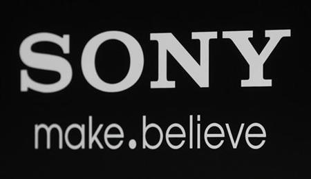 The Sony logo and slogan are pictured on a backdrop at a special screening of the new film ''Colombiana'' in Los Angeles, California August 24, 2011.  REUTERS/Fred Prouser