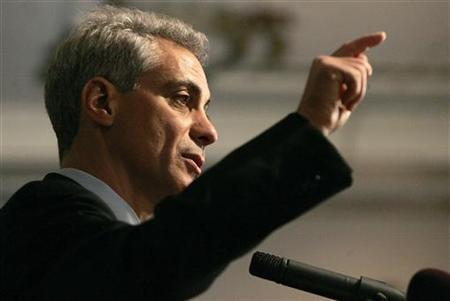 Chicago mayor-elect Rahm Emanuel gestures while answering a question during his first news conference after winning the election in Chicago February 23, 2011.  REUTERS/Frank Polich