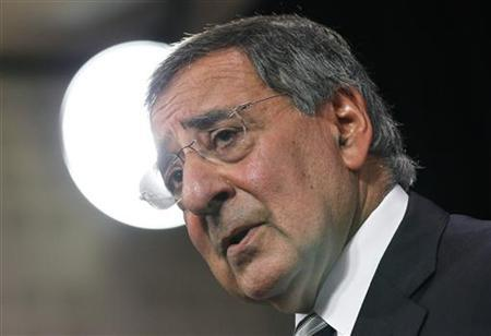 Secretary of Defense Leon Panetta addresses a news conference during a NATO defence ministers meeting at the Alliance headquarters in Brussels October 6, 2011.  REUTERS/Francois Lenoir