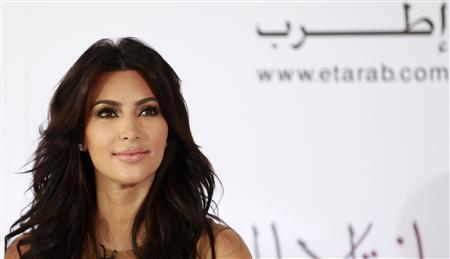 TV personality Kim Kardashian attends a news conference in Dubai October 13, 2011. REUTERS/Jumana El Heloueh