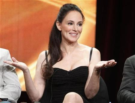 Actress Madeleine Stowe, star of the new drama series ''Revenge'', takes part in a panel session at the ABC Summer TCA Press Tour in Beverly Hills, California August 7, 2011.  REUTERS/Fred Prouser