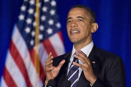 President Barack Obama delivers remarks at a campaign fundraising event in Orlando, Florida October 11, 2011.  REUTERS/Jonathan Ernst