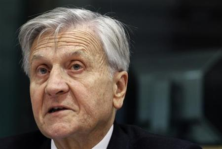 European Central Bank President Jean-Claude Trichet addresses the European Parliament's Economic and Monetary Affairs Committee in Brussels October 11, 2011.  REUTERS/Thierry Roge
