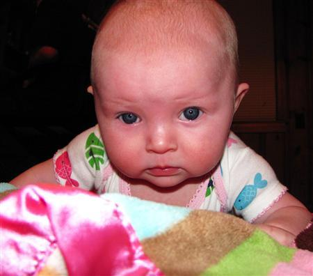 11-month-old Lisa Irwin in an undated photo. REUTERS/Kansas City Police