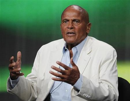 Singer, actor and activist Harry Belafonte speaks during a session about a documentary on his life 'Sing Your Song' during the HBO session at the 2011 Summer Television Critics Association Cable Press Tour in Beverly Hills, California July 28, 2011. REUTERS/Fred Prouser