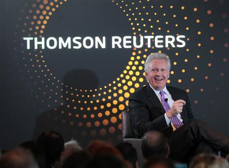 General Electric Co Chief Executive Jeff Immelt speaks at a ThomsonReuters newsmaker event in New York, October 17, 2011. REUTERS/Brendan McDermid