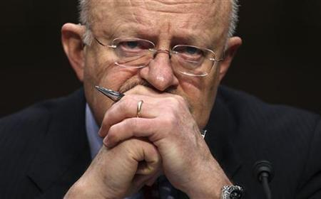 Director of National Intelligence James Clapper testifies at a Senate Intelligence Committee hearing on Capitol Hill in Washington February 16, 2011.   REUTERS/Jason Reed