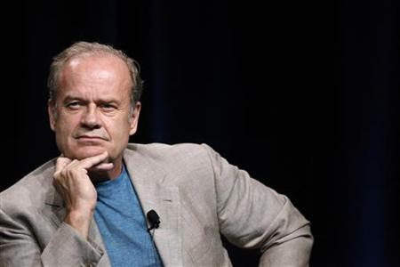 Cast member Kelsey Grammer listens to a reporter's question at the Starz session for ''Boss'' at the Summer Television Critics Association Cable Press Tour in Beverly Hills, California July 29, 2011.    REUTERS/Mario Anzuoni