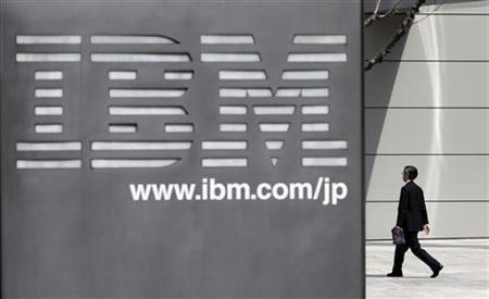 A man walks past the headquarters of IBM Japan in Tokyo March 18, 2010.  REUTERS/Toru Hanai