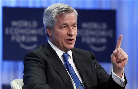 JP Morgan Chase Chief Executive Officer Jamie Dimon attends a session at the World Economic Forum (WEF) in Davos January 27, 2011. REUTERS/Vincent Kessler
