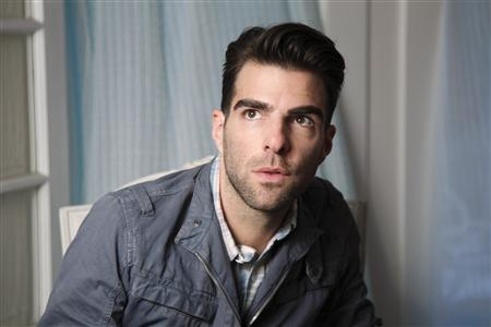 Producer and actor Zachary Quinto poses for a portrait while promoting the film ''Margin Call'' in Los Angeles October 5, 2011. Quinto, known for portraying Spock in the 2009 blockbuster film ''Star Trek,'' has publicly come out as a gay man.  REUTERS/Danny Moloshok