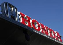 <p>A Honda Motor logo is pictured at a dealer for the company in Kawasaki, south of Tokyo September 18, 2011.REUTERS/Yuriko Nakao</p>