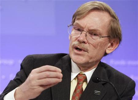 World Bank President Robert Zoellick speaks during an opening news conference of the annual meetings of the International Monetary Fund (IMF) and World Bank in Washington September 22, 2011. REUTERS/Yuri Gripas