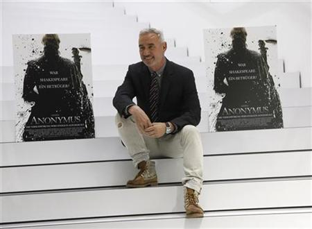Roland Emmerich, German director of the film ''Anonymous'' poses during the book fair in Frankfurt October 14, 2011. REUTERS/Ralph Orlowski