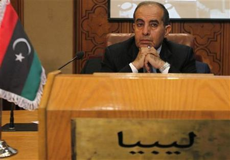 Mahmoud Jibril, head of Libya's rebel National Transitional Council, attends a meeting of Arab League foreign ministers to discuss Syria at the League headquarters in Cairo October 16, 2011. REUTERS/Mohamed Abd El-Ghany
