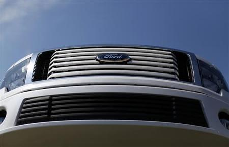 A Ford truck sits for sale on a dealership lot in Encinitas, California July 25, 2011.  REUTERS/Mike Blake