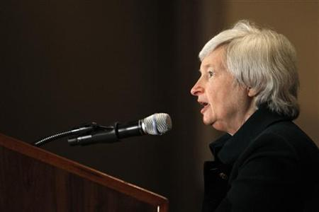 Janet L. Yellen, president and chief operating officer of the Federal Reserve Bank of San Francisco, speaks at the Town Hall Los Angeles forum in Los Angeles March 23, 2010.  REUTERS/Mario Anzuoni