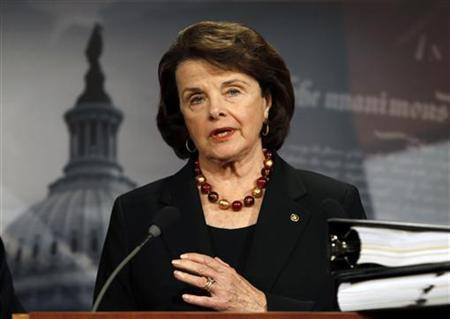 Senator Dianne Feinstein (D-CA) speaks about START Treaty on Capitol Hill in Washington, December 15, 2010.   REUTERS/Hyungwon Kang