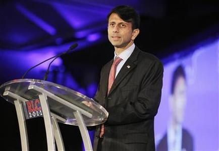 Governor Bobby Jindal (R-LA) speaks during the Republican Leadership Conference in New Orleans, Louisiana June 17, 2011.  REUTERS/Sean Gardner