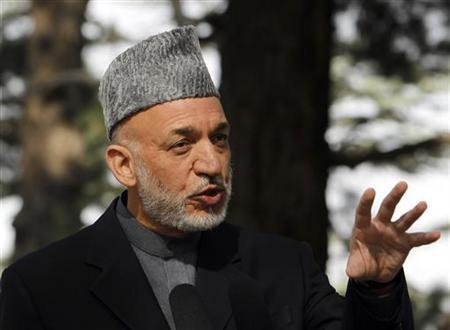 Afghan President Hamid Karzai speaks during a news conference in Kabul October 20, 2011.  REUTERS/Omar Sobhani