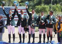 Equipe brasileira ganha medalha de bronze no concurso completo de equitação no Pan de  Guadalajara.  REUTERS/Mariana Bazo