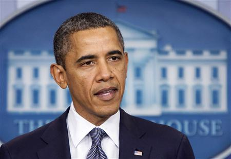 U.S. President Barack Obama announces the withdrawal of U.S. troops from Iraq in the briefing room of the White House in Washington October 21, 2011. REUTERS/Joshua Roberts