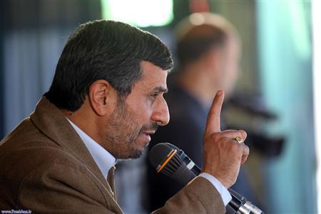 Iranian President Mahmoud Ahmadinejad speaks to an audience in city of Birjand 1000 km (621 miles) east of Tehran October 25, 2011. REUTERS/President.ir/Handout